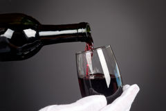 Pouring glass of wine Royalty Free Stock Photography