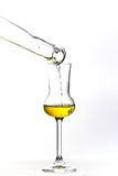 Pouring the Grappa Royalty Free Stock Photo