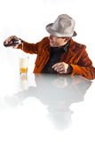 Pouring his beer Royalty Free Stock Photos