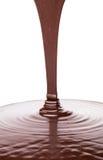 Pouring Hot Chocolate Liquid II Royalty Free Stock Photo