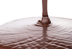 Pouring Hot Chocolate Liquid III Royalty Free Stock Image