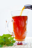 Pouring hot tea Royalty Free Stock Photo