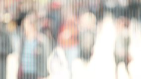 Abstract City Street Crowd Bokeh with effect V2 stock video footage