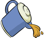 Pouring Jug. Juice flowing from a pouring plastic cartoon jug Royalty Free Stock Photography
