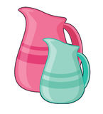 Pouring jugs Royalty Free Stock Photos