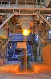 Pouring of liquid metal Stock Photo