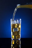 Pouring liquor. Stock Photos