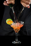 Pouring a margarita Stock Image