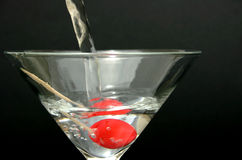 Pouring Martini Stock Image