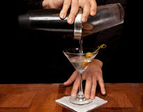 Pouring a Martini Stock Photography