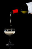 Pouring milk in concept no alcohor Royalty Free Stock Image