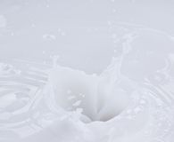 Pouring milk splash Royalty Free Stock Photography