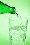 Pouring mineral water Royalty Free Stock Photography