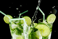 Pouring mojito Royalty Free Stock Photo