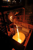 Pouring molten steel Royalty Free Stock Photo