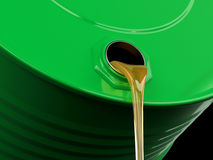 Pouring motor oil or gasoline Royalty Free Stock Images