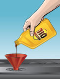 Pouring Motor Oil Royalty Free Stock Images