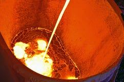 Pouring Of Liquid Metal Stock Photos