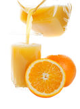 Pouring Orange Juice Royalty Free Stock Image
