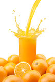 Pouring orange juice