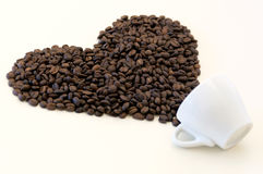 Pouring out of cup heart (love symbol) Stock Image