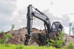 Pouring Out Dirt stock images