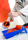 Pouring paint Royalty Free Stock Image