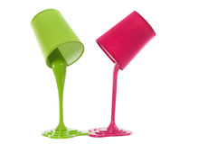 Pouring paint Stock Photography
