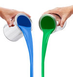 Pouring paints Royalty Free Stock Photo