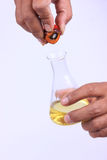 Pouring palm oil Stock Photography