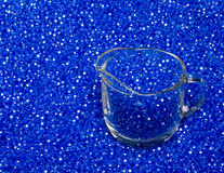 Pouring Plastic Colored Beads Royalty Free Stock Photo