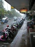 Pouring rain Royalty Free Stock Image
