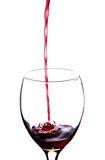 Pouring red wine Royalty Free Stock Photos