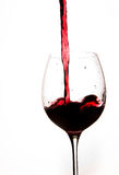 Pouring Red Wine in a Glass Royalty Free Stock Photography