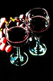 Pouring red wine in a glass, celebration of a moment with a glas. S of wine, exquisite liquor for gourmets, winery Stock Photo