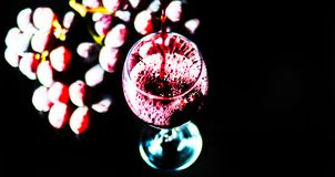 Pouring red wine in a glass, celebration of a moment with a glas. S of wine, exquisite liquor for gourmets, winery Stock Images
