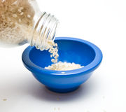 Pouring Sesame Seeds Stock Image