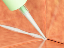 Pouring Silicone Sealant Royalty Free Stock Image