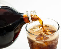 Pouring Soda royalty free stock photos
