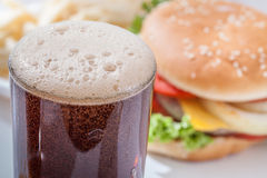 Pouring soft drink Royalty Free Stock Photos