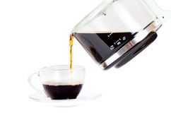 Pouring splashing coffee Stock Photography
