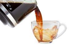 Pouring splashing coffee Stock Image