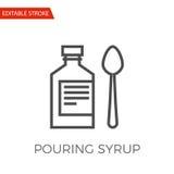 Pouring Syrup Vector Icon Stock Photos
