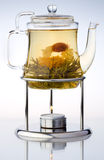 Pouring tea. In glass Teapot Royalty Free Stock Images