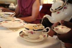 Pouring tea Stock Image