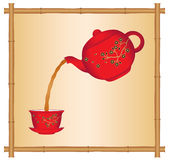 Pouring Tea from a Chinese Teapot Stock Photography