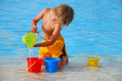 Pouring water Royalty Free Stock Images