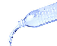 Pouring Water Bottle on White royalty free stock photos