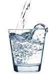 Pouring water into glass Royalty Free Stock Photography