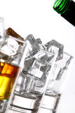 Pouring whiskey into the glass Royalty Free Stock Photo